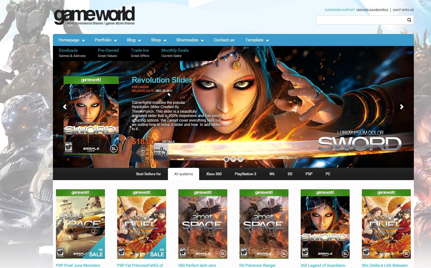 gameworld-woocommerce-gaming-wordpress-theme
