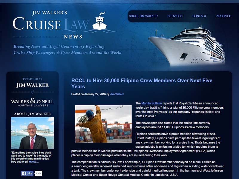 Cruise Law News - Website Screenshot