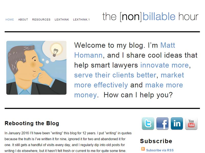 The [non]billable Hour - Website Screenshot