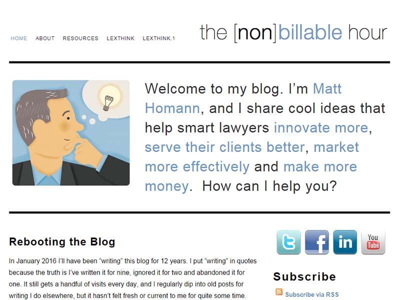 The [non]billable Hour - Website Screenshot