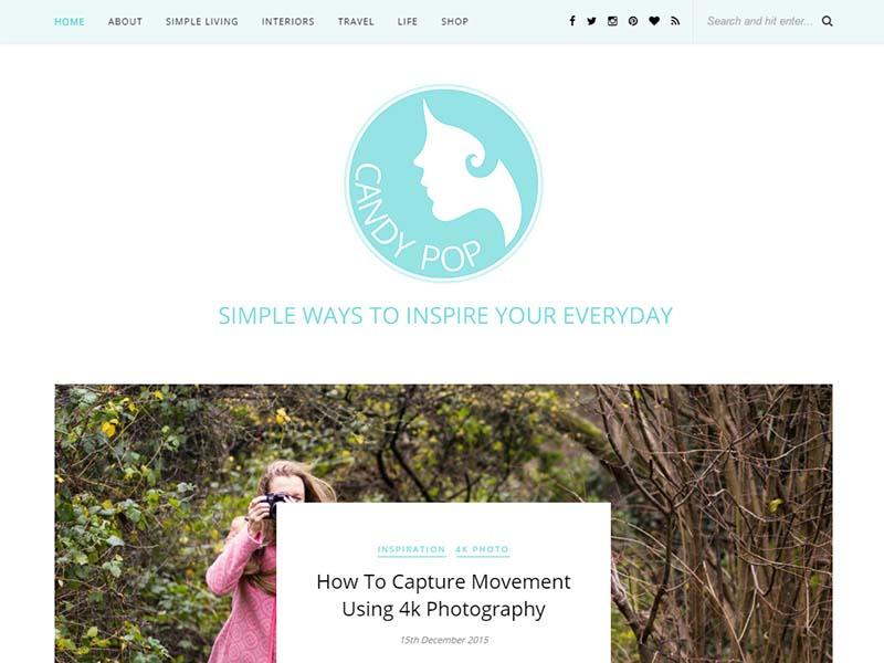 Candy Pop - Website Screenshot