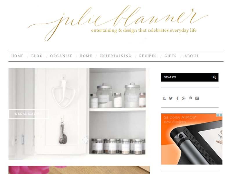 Julie Blanner - Website Screenshot