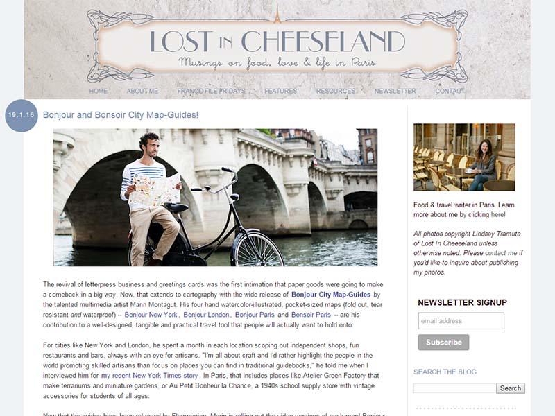 Lost in Cheeseland - Website Screenshot