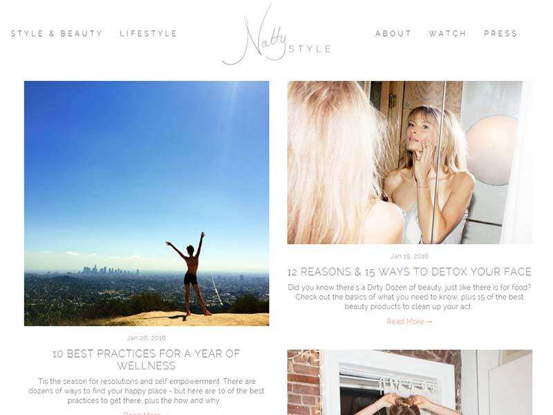 Natty Style - Website Screenshot