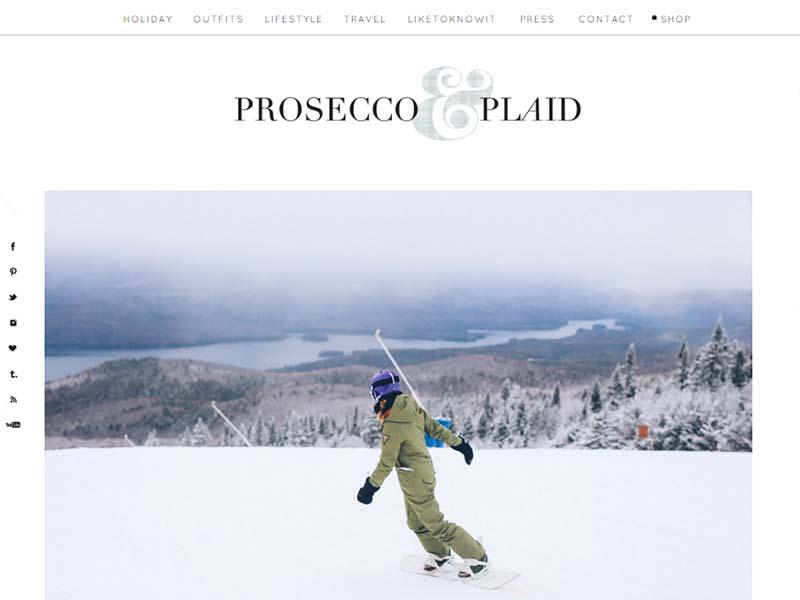 Prosecco and Plaid - Website Screenshot