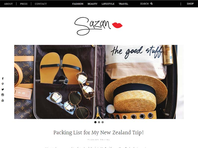 Sazan - Website Screenshot