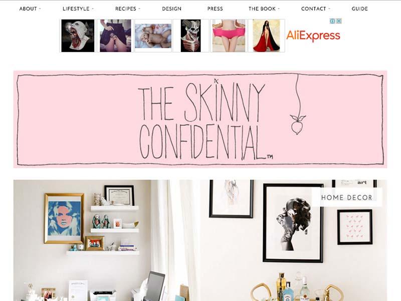 The Skinny Confidential - Website Screenshot