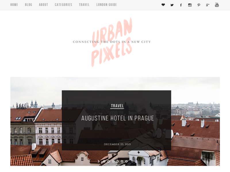 Urban Pixels - Website Screenshot