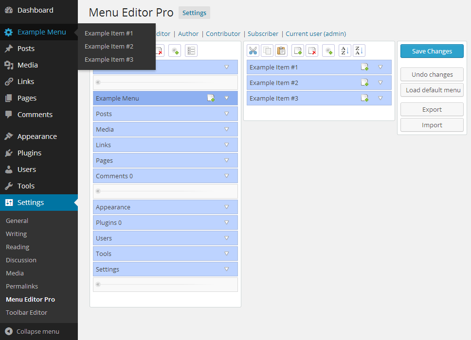 menu-editor-pro
