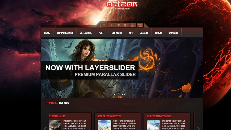 orizon-wordpress-gaming-theme