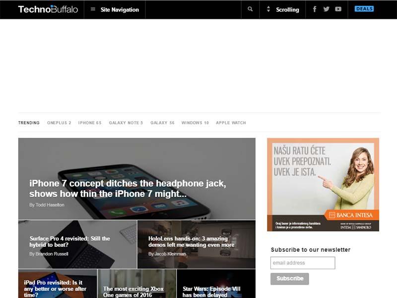 TechnoBuffalo - Website Screenshot