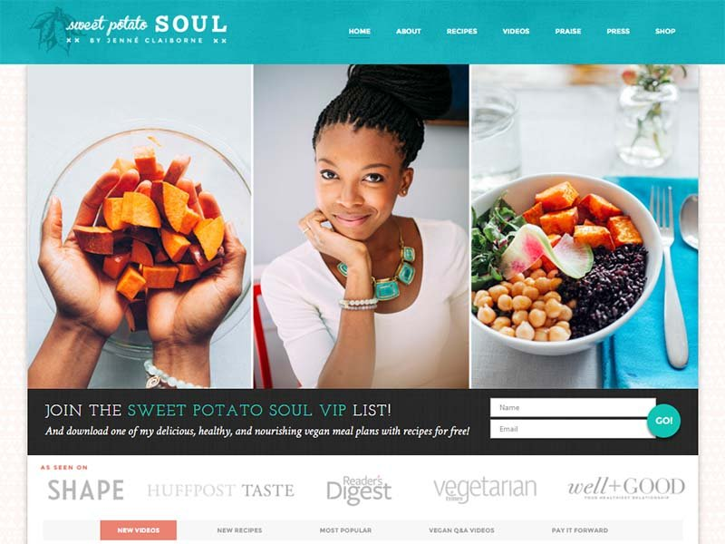 Sweet Potato Soul Website Screenshot
