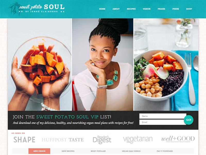 Sweet Potato Soul Website Screenshot