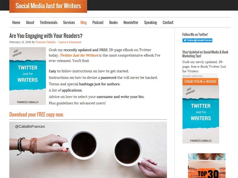 Social Media Just For Writers - Website Screenshot