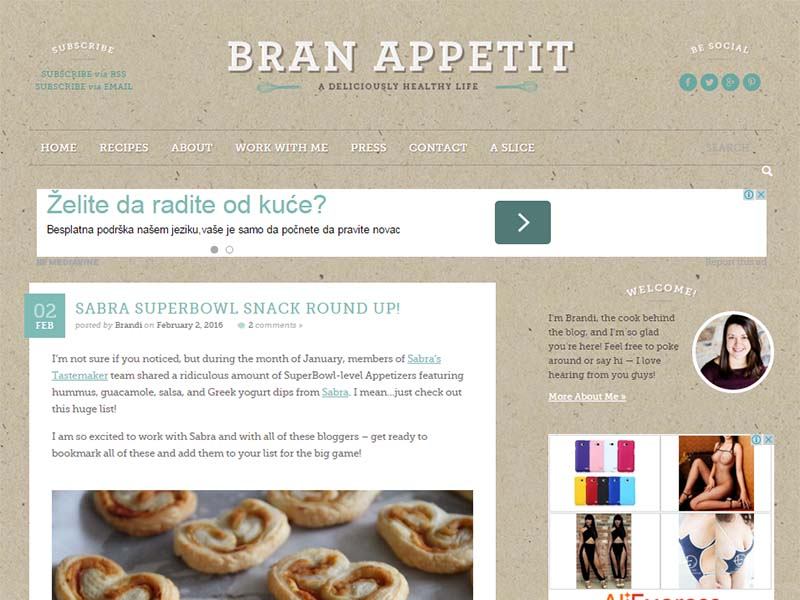 Bran Appetit - Website Screenshot
