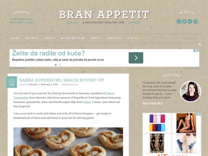 Bran Appetit - Website Screenshot