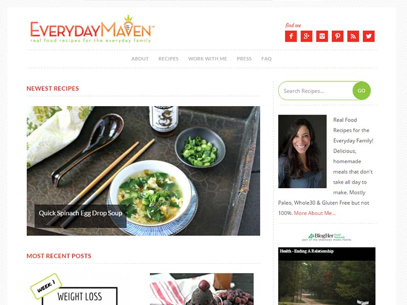 Everyday Maven - Website Screenshot