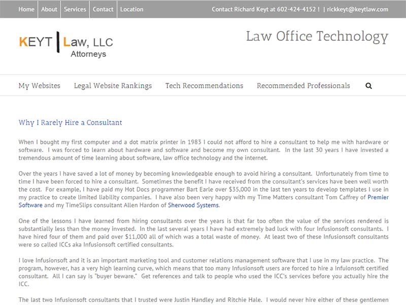 Law Office Technology - Website Screenshot