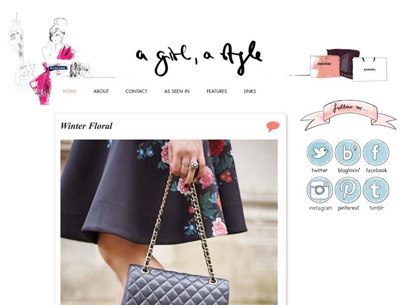 A Girl, A Style - Website Screenshot