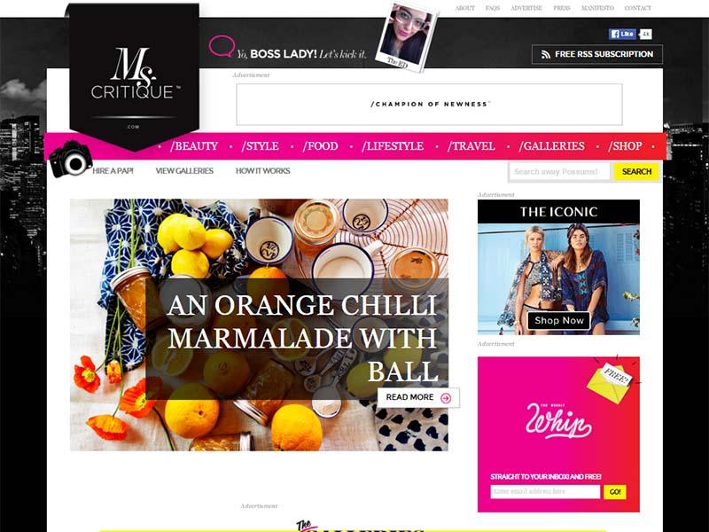 MsCritique - Website Screenshot