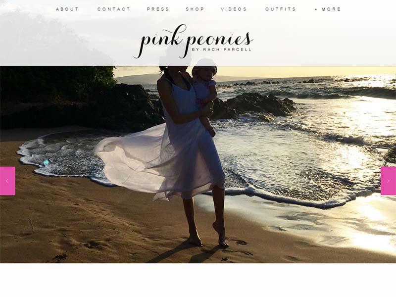Pink Peonies - Website Screenshot