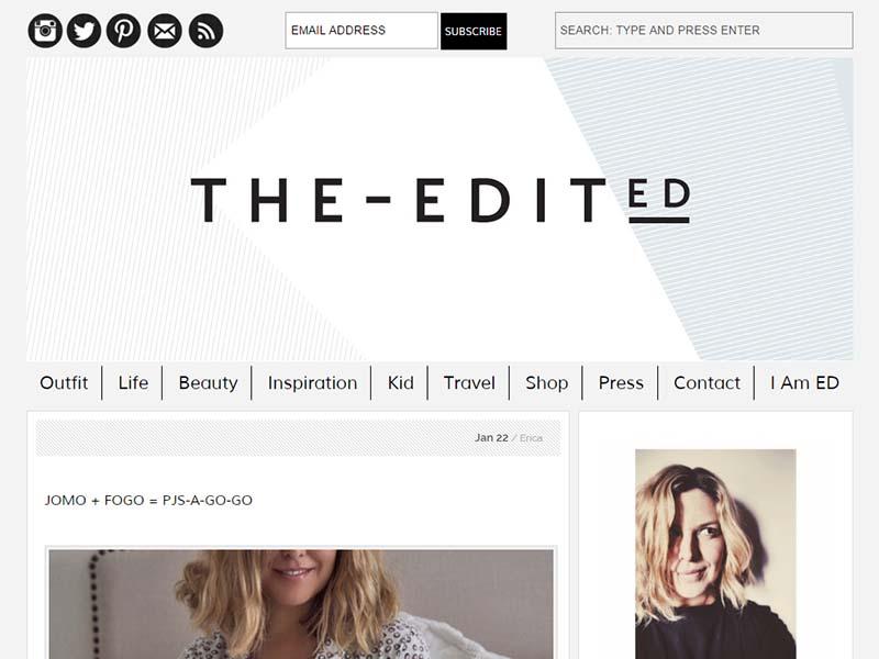 The Edited - Website Screenshot