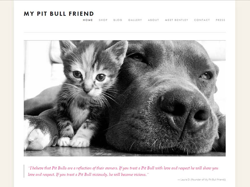My Pitbull Friend - Website Screenshot