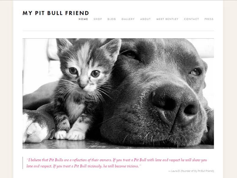 My Pitbull Friend - Website Screenshot