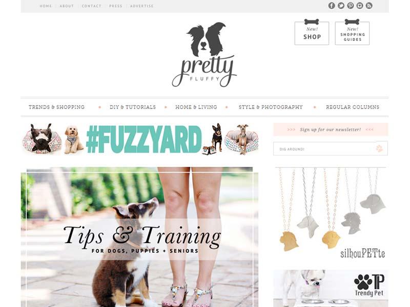 Pretty Fluffy - Website Screenshot