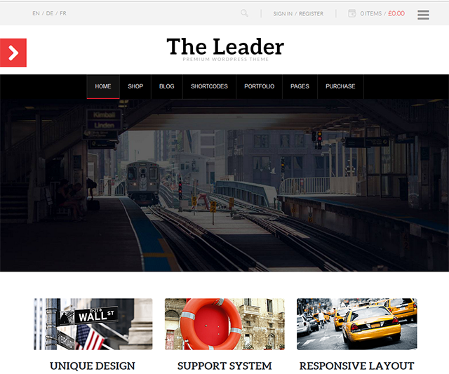 8Theme Interview - WP theme THE LEADER