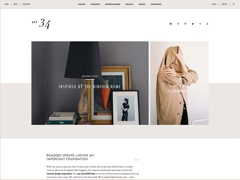 Apartment 34 - Website Screenshot