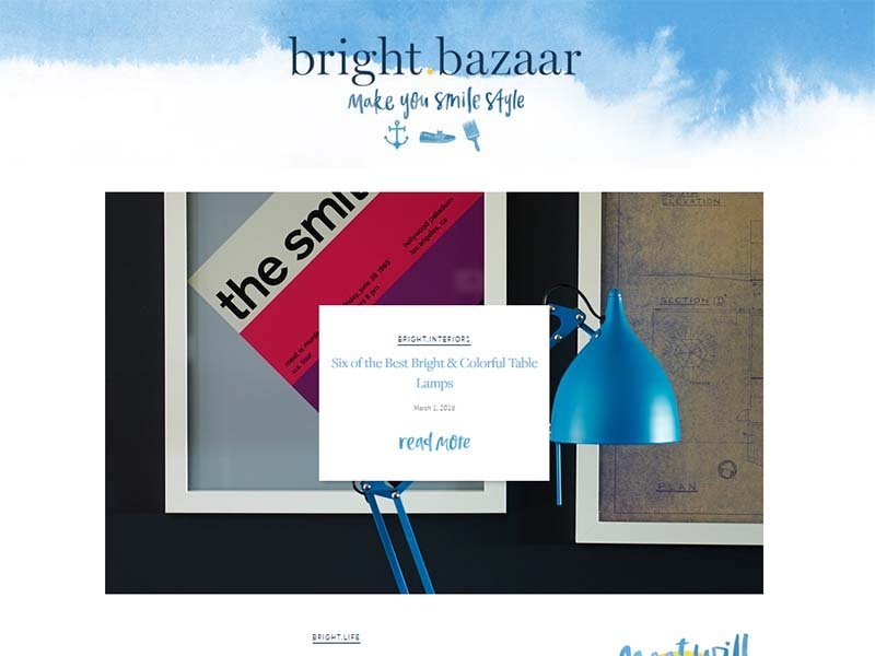 Bright Bazaar - Website Screenshot