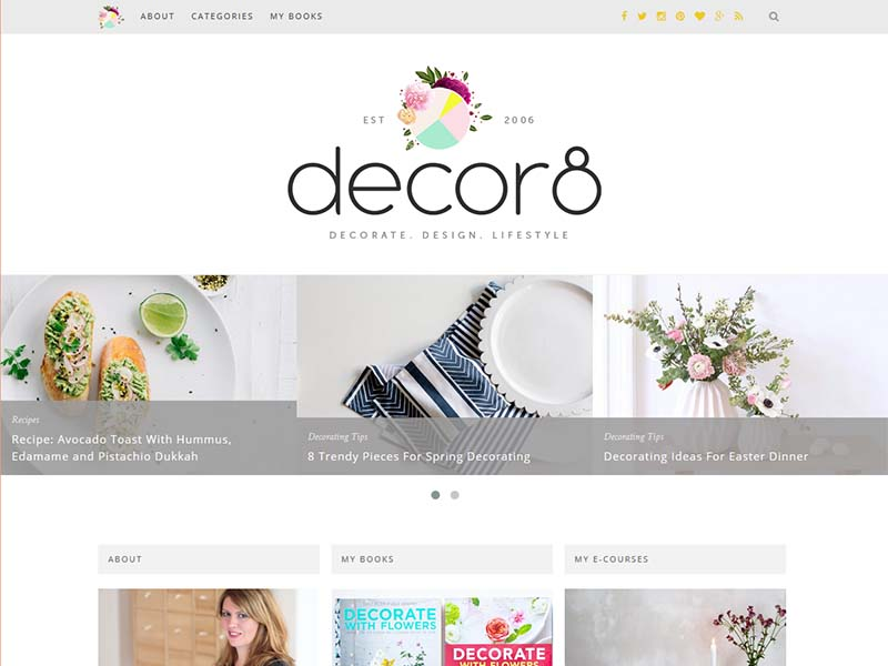 decor8 - Website Screenshot