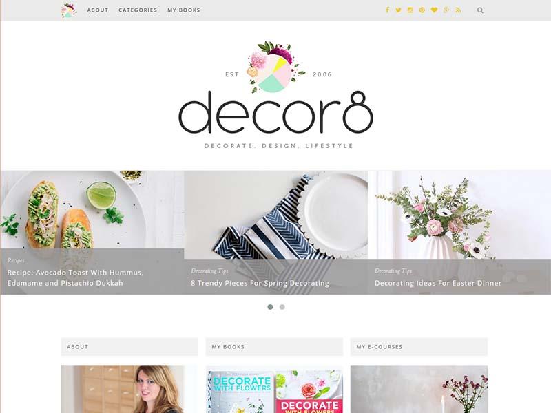 decor8 - Website Screenshot
