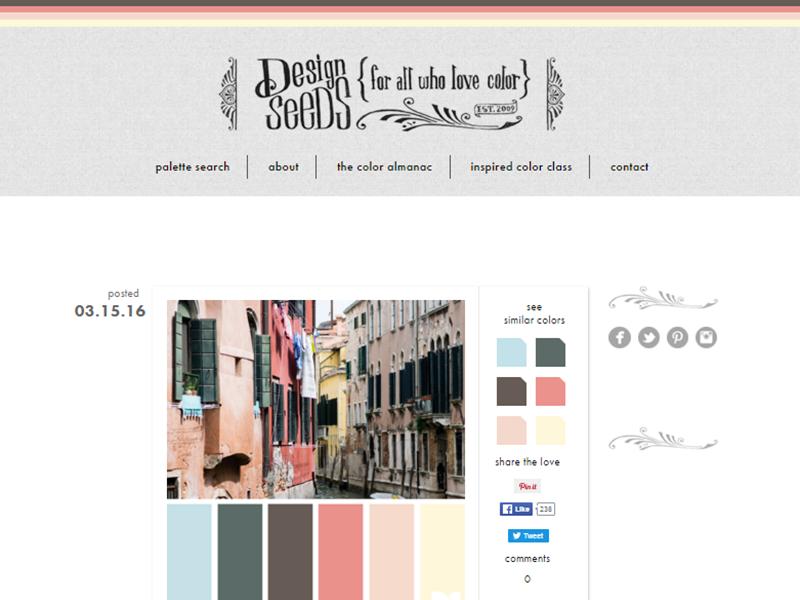 Design Seeds - Website Screenshot