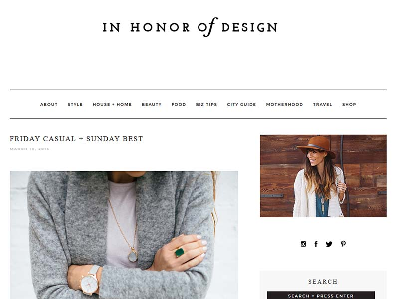In Honor Of Design - Website Screenshot