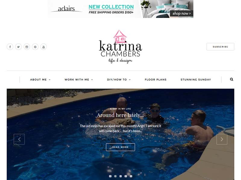 Katrina Chambers - Website Screenshot