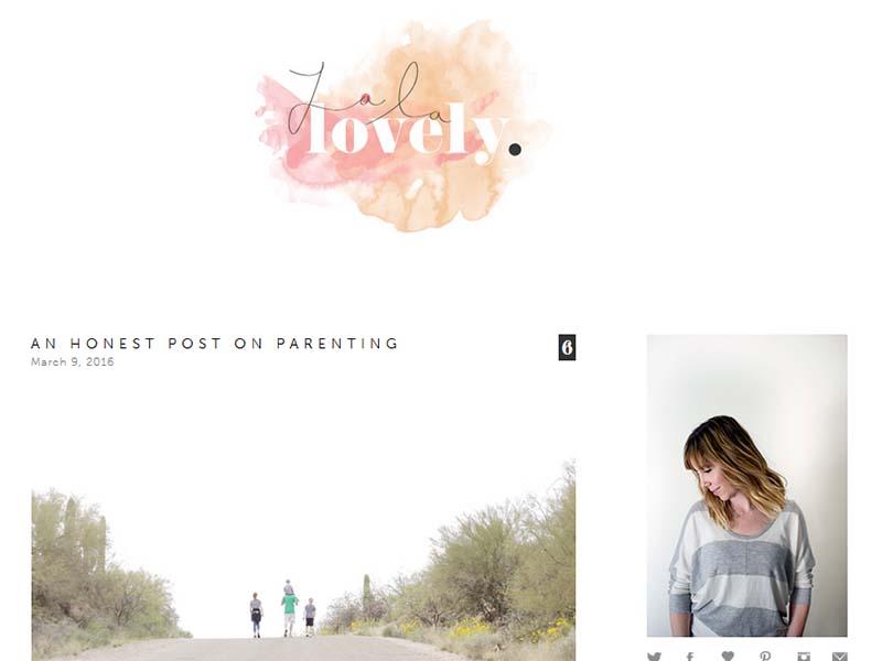 La La Lovely - Website Screenshot