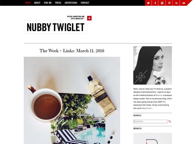 Nubby Twiglet - Website Screenshot