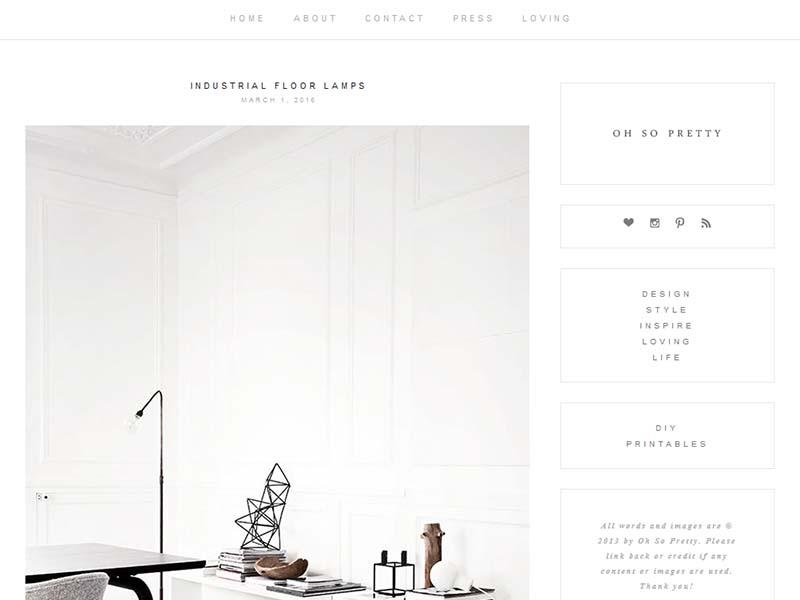 Oh So Pretty - Website Screenshot