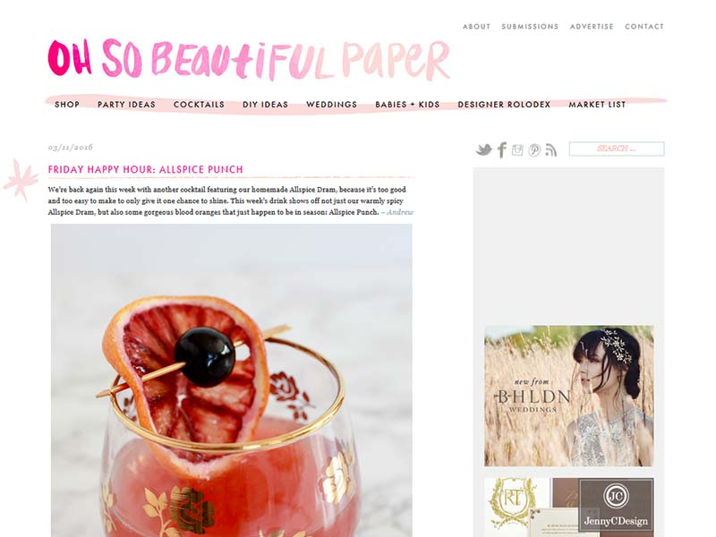 Oh So Beautiful Paper - Website Screenshot