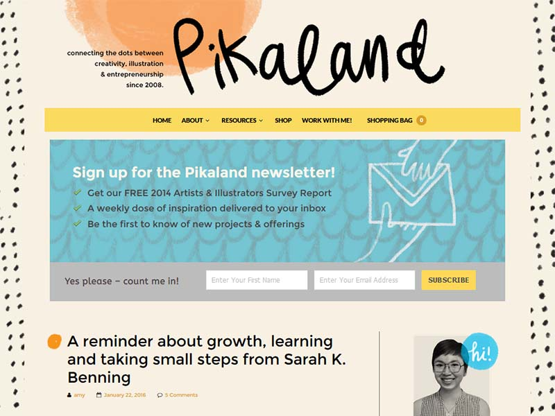 Pikaland - Website Screenshot
