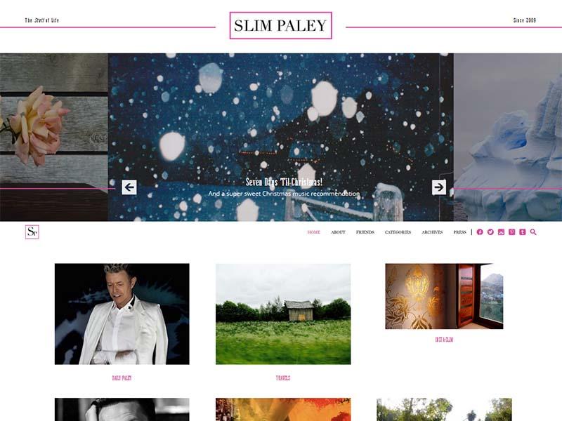 Slim Paley - Website Screenshot