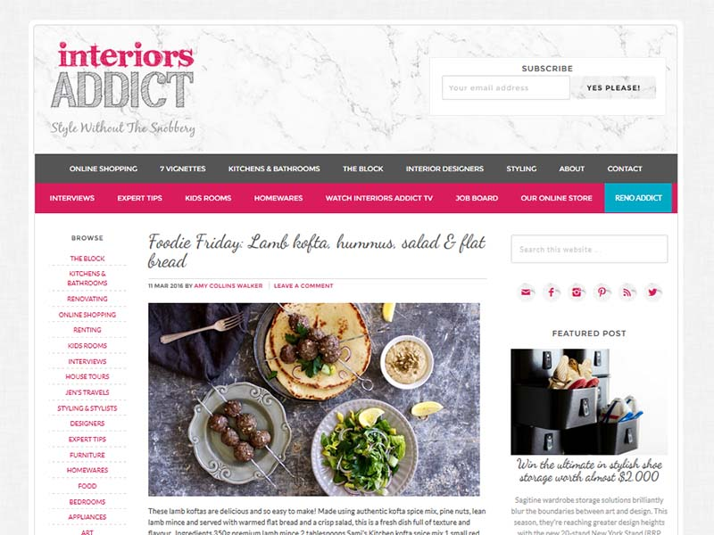 The Interiors Addict - Website Screenshot