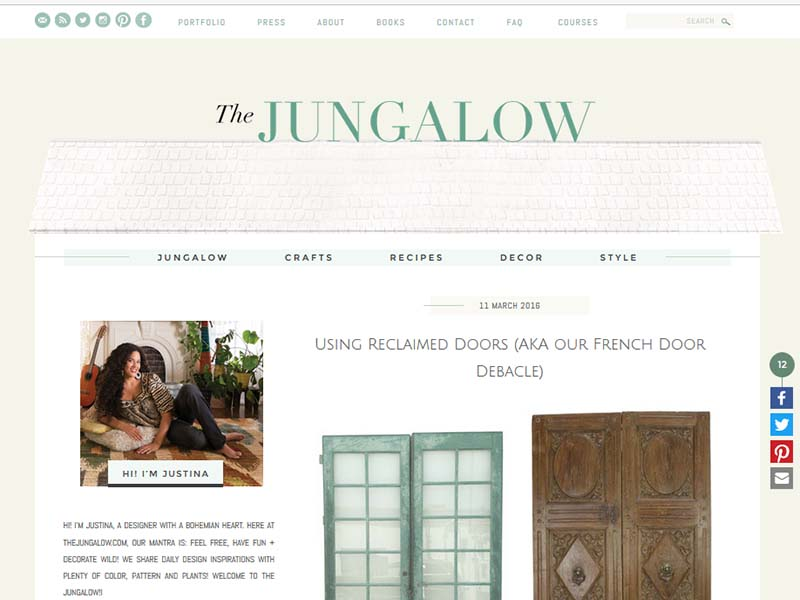 The Jungalow - Website Screenshot