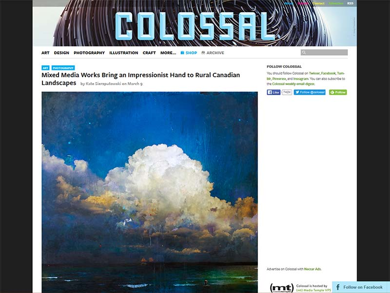 Colossal - Website Screenshot