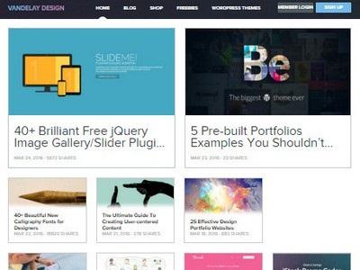 Vandelay Design - Website Screenshot