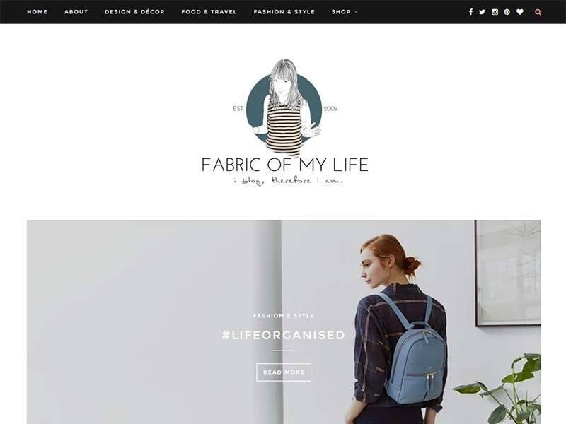 Fabric Of My Life - Website Screenshot