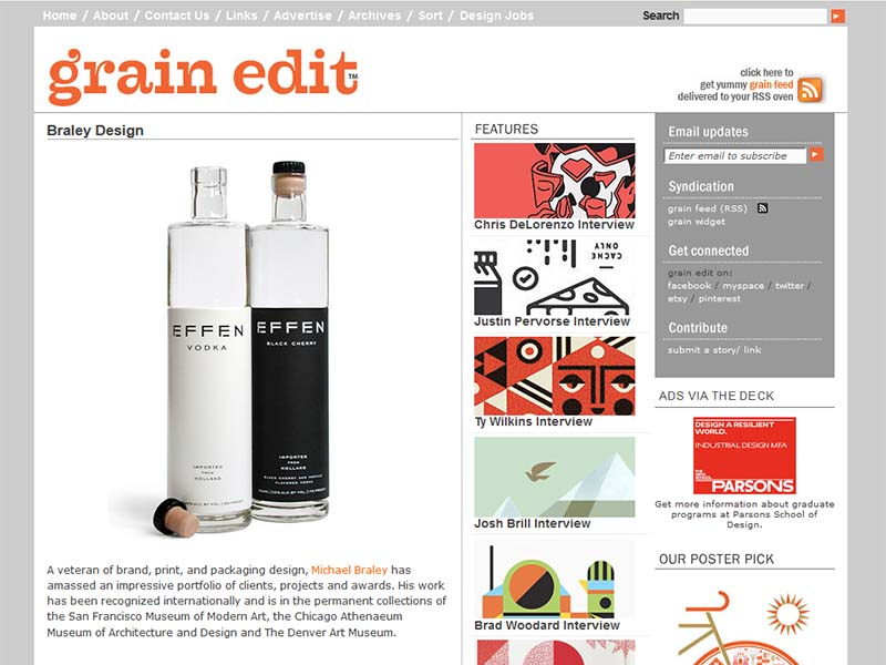 Grain Edit - Website Screenshot