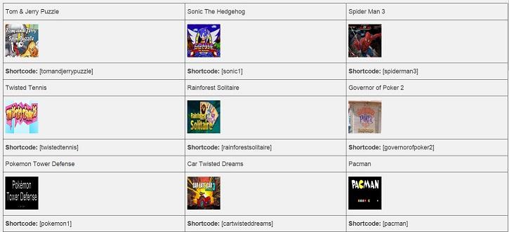 Online Games for WordPress